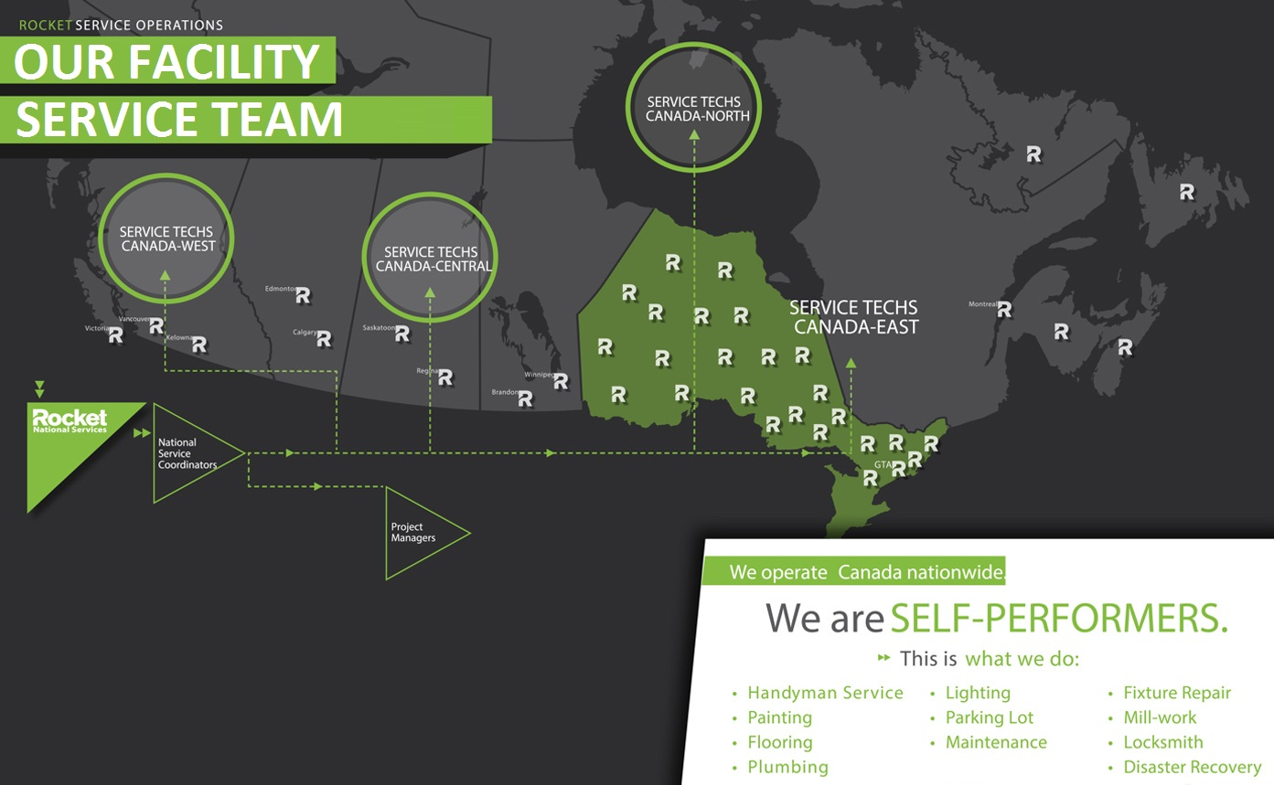 Map of Our Facility Management Team.